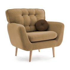 Fotoliu Fix Malva Sand Brown Living Room Decor, Armchair, Interior Design, Retro, Yellow, Brown, Inspiration, Furniture, Home Decor