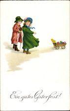 Ak Glückwunsch Ostern, Küken, Ostereier, Kinder - 1029669