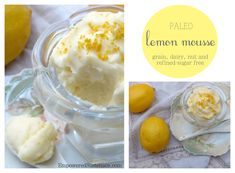 Easy paleo lemon mousse (dairy and nut free). This is super creamy and fluffy--just like mousse should be!