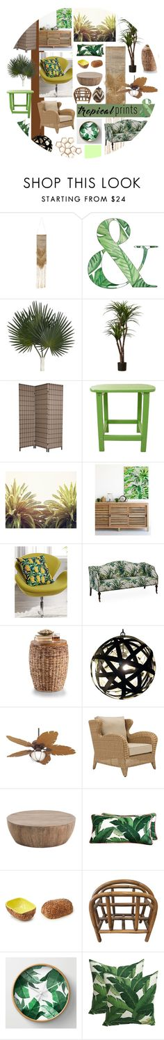 """""""Tropical Lyfe"""" by rainbowpupcakes ❤ liked on Polyvore featuring interior, interiors, interior design, home, home decor, interior decorating, Antique, Hanover, Casa Vieja and Eichholtz"""