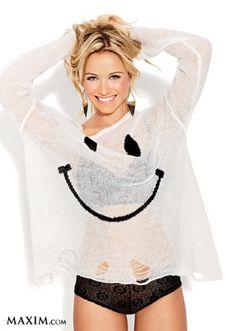 WILDFOX COUTURE White Label 90's Smile Lennon Sweater in White