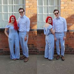 Here we have a couple of part of a bridal party we have a jumpsuit and also the trousers and bowtie. If you wanna see more of what we do you can catch us at the eclectic wedding extravaganza wedding fair at the bond in digbeth on the 14 and 15th of March. . . . . . . . . . . karlusg-tailor.co.uk Tickets allaboutewe.co.uk #blue #jumpsuit #trousers #bowtie #allaboutewe #wedding #outfit #weddinginspo #redhair #couple #party #photography #fashion #model #catwalk #swag #custommade #tattoo… Harem Pants, Trousers, Eclectic Wedding, Bespoke Suit, Party Photography, Wedding Fair, Cat Walk, Red Hair