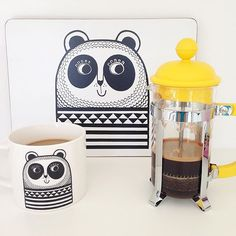Morning everyone! It's a beautiful sunny day here in Devon and I'm starting the day with a coffee on my Panda mug! @makeinternational #pandamug #retromug #coffeetime #janefostermug