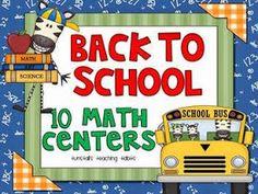 http://www.teacherspayteachers.com/Product/Back-To-School-10-Math-Centers-273519