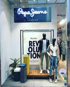 WEBSTA @ acroru - New denim revolution on al #pepejeansoutlet special edition #denim #ilovedenim #escaparate #windows #mywork #denimadict #sansebastiandelosreyes #outlet #pepejeanslondon #vaqueros #windowsshop #SS17 #patchwork #patchdenim