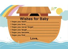 Hey, I found this really awesome Etsy listing at http://www.etsy.com/listing/102245689/noahs-ark-wishes-for-baby-cards-for-baby