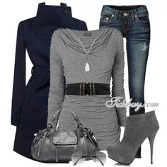 Love this .. cozy warm and put together the heels are to high for me thoughXD