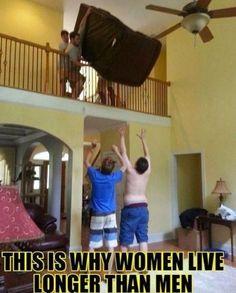 Men observed in their natural habitat.