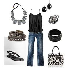Love the zebra purse and top