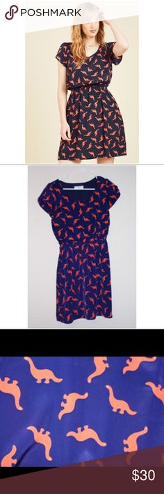 Modcloth dinosaur dress New without tags, never been worn! ModCloth Dresses