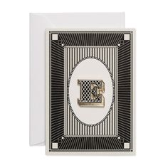 Letter E luxury enamel pin badge card, complete with card by Chase and Wonder