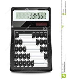 Interesting calculator  abacus  combination