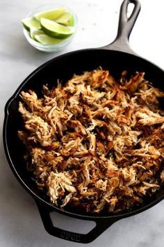 Pin for Later: 18 Healthy Slow-Cooker Recipes That Basically Cook Themselves Healthy Chicken Carnitas Slow Cooker Chicken Healthy, Healthy Crockpot Recipes, Slow Cooker Recipes, Vegetarian Recipes, Cooking Recipes, Healthy Meals, Dinner Healthy, Healthy Food, Atkins Recipes