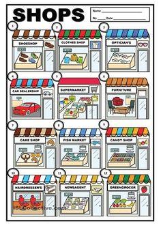 going shopping worksheet - ค้นหาด้วย Google