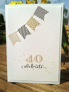Einladungskarte Geburtstag, Im Fähnchenfieber, Zur Feier des Tages, Gorgeous Grunge, Espresso, Savanne, Flüsterweiß