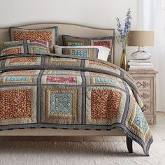 Sanderson Patchwork Quilt   The Company Store
