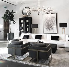 excellent living room ideas with lighting 44 Living Room Decor Cozy, Home Living Room, Interior Design Living Room, Living Room Designs, Living Room Inspiration, Luxury Living, Home Decor, Living Room Ideas Black And White, Sweet