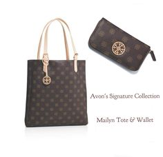 Avon's Signature Collection Mailyn Tote and Wallet - I have these and really get use out of them.
