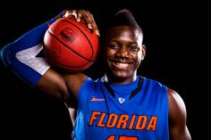 Florida forward Will Yeguete poses for a photo at the 2012 University of Florida basketball media day in Gainesville, Fla. on Wednesday, October 10, 2012.