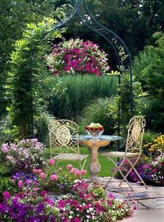Floral Outdoor Patio Garden