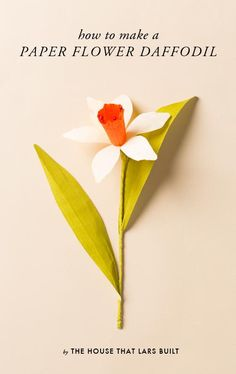 DIY Paper Daffodil