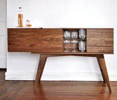 liquor cabinet / credenza. i'm sold. #credenza #wood #furniture