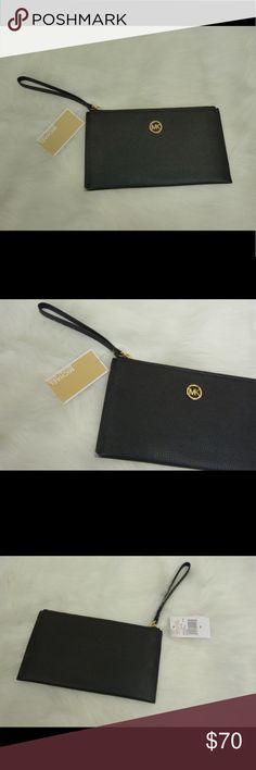"NWT Michael Kors Fulton Large Wristlet Black.  Measures 10 x 5.5"" Michael Kors Bags Clutches & Wristlets"