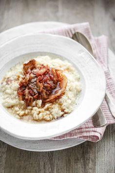 - VANIGLIA - storie di cucina: Risotto Acquerello all'amatriciana mantecato al pecorino e vin cotto: da un lontano week-end a Tuscania, di elettrodomestici, di chef e di ricette eccezionali.