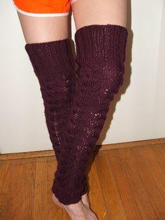 Knitting! Handmade leg warmers... pattern in Knit magazine