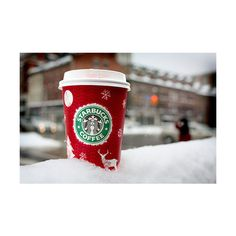 starbucks red cup | Tumblr found on Polyvore