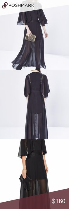 Rebecca Minkoff 100% Silk Collins Dress Straight from the Fall runway, we love the vintage appeal of this sophisticated dress. The moody hue and lace panels create a lean, flattering fit, guaranteed to leave a lasting impression.  100% Silk Dry clean only Rebecca Minkoff Dresses Maxi