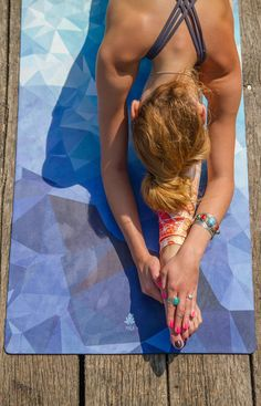 Mala HYBRID Premium Natural Rubber Yoga Mat Poly Wave with Microfiber Towel Surface  Sweat absorbing for Hot Yoga Bikram Pilates Vinyasa Crossfit Fitness and other Workouts  Extra Long * Click image for more details. (This is an affiliate link) #yogamat