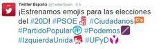 Conoce sobre Twitter España lanza emojis de partidos políticos