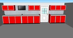Custom Red Aluminum Garage Cabinets http://www.carguygarage.com/alca.html