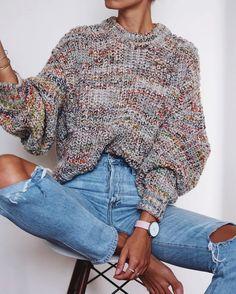 Fall Fashion 2017 chunky k n i t s // via: andi singer