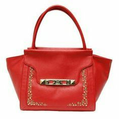 Nwt Kk Kardashian Kollection Satchel Red