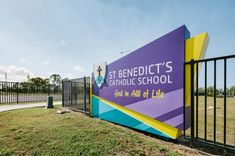 Part of St Benedict's School sign system