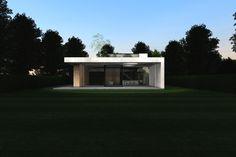 icoon.be architecten concrete house with tree