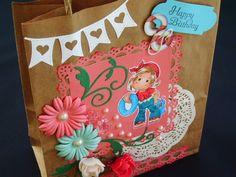 Márcia - cartões: A 1ª sacola decorada: alegria!