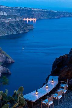 Santorini, Imerovigli, Caldera evening