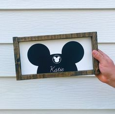 Mickey Mouse Tattoos, Mickey Mouse Art, Mickey Ears, Disney Names, Disney Sign, Disney Stuff, Cool Small Tattoos, Tattoos For Kids, Disney Home Decor