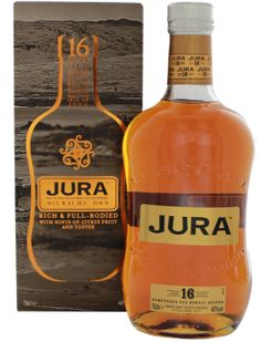 Isle of Jura 16YO Malt Whisky 0,7L 40% - Schotland