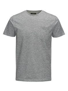 ADPT. T-Shirt Klassisches Melange grau