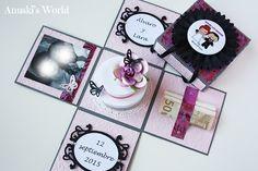 Exploding box para regalar dinero en una boda - Anuski´s World