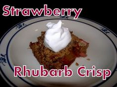 Atkins Diet Recipes:  Low Carb Strawberry Rhubarb Crisp
