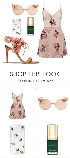 """GOT: TYRELL inspired Outfit"" by thesassenach ❤ liked on Polyvore featuring Rupert Sanderson, Lipsy, Linda Farrow, Sonix and Dolce&Gabbana"