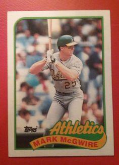 1989 Topps Baseball Card # 70 Mark McGwire