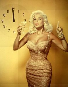 "With her hourglass figure and her 46DD cups, the newspapers in the 1950s routinely published her body measurements, which led the evangelist Billy Graham to exclaim ""This country knows more about Jayne Mansfield's statistics than the Second Commandment.""  See more of the HOLLYWOOD'S ORIGINAL #BLOND #BOMBSHELL AND #SEXSYMBOL at http://www.clubfashionista.com/2013/06/jayne-mansfield-in-photos.html. #jaynemansfield #50s #old #hollywood #glamour #tbt"