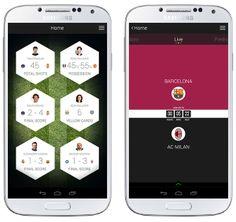 Samsung Football App by Dominic Quigley, via Behance