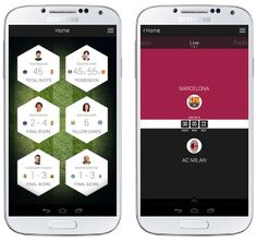 Samsung Football App by Dominic Quigley, via Behance